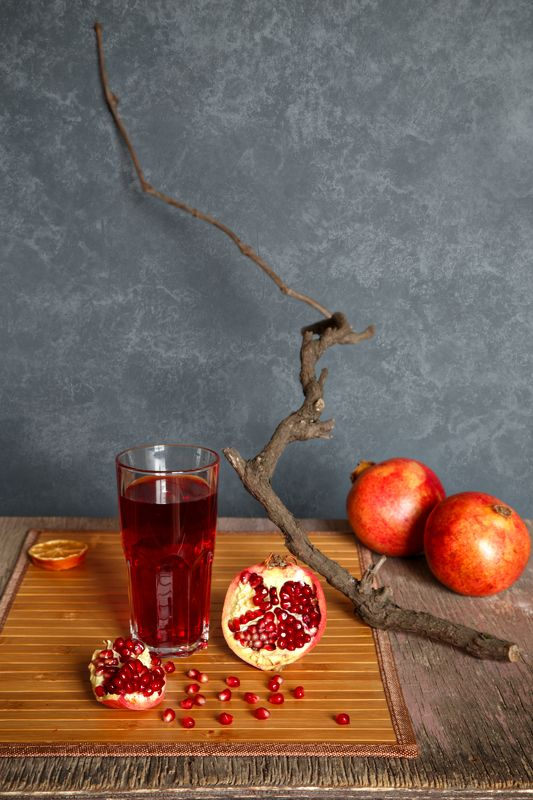 pomegranate, juice, ripe, red, fruit, glass, food, healthy, sweet, organic, juicy, seed, background, wooden, nature,  tropical, fresh, ingredient, vegetarian, raw, closeup, table, nobody, view, drink, freshness, vitamin, pomegranate tree Гранатовый сокphoto preview