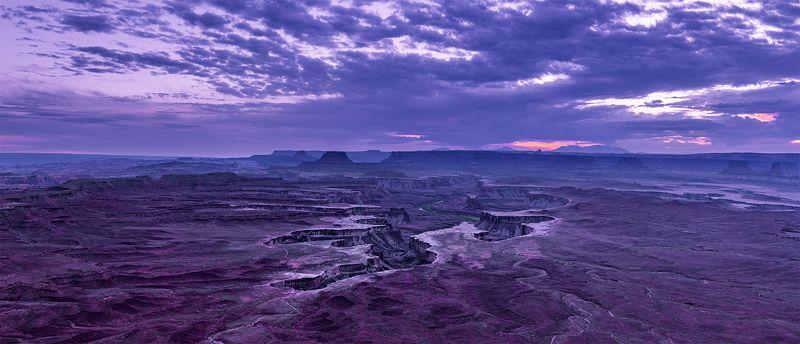 american south-west, canyon, canyonlands, clouds, desert, dusk, green river, landscape, nature, panorama, sunset, usa, white rim Тонкий шрам на любимой попе (с)photo preview
