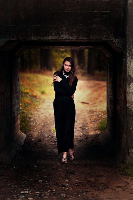 фотосет, девушка на природе, портрет, девушка в черном, лето, girl, красота ******photo preview