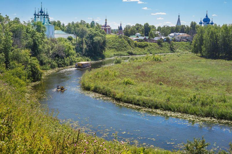 Лето, Пейзаж, Путешествия, Река Каменка, Россия, Суздаль Суздаль.photo preview