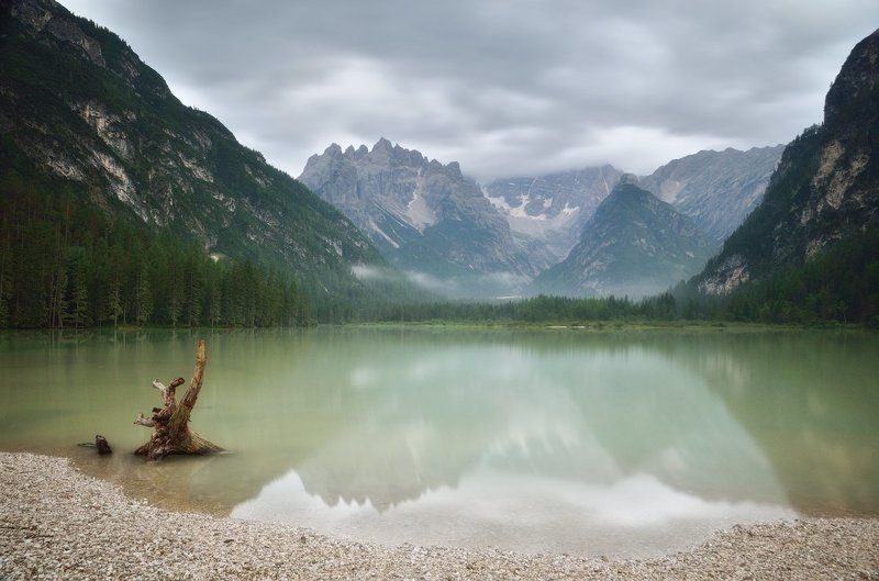 italy, dolomites, lago di landro, италия, доломитовые альпы, озеро ландро Lago di Landrophoto preview