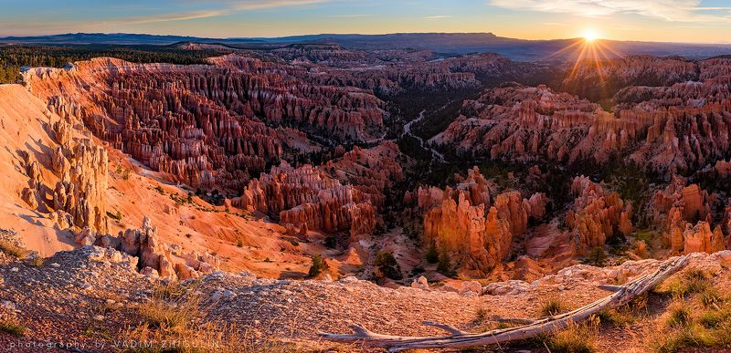 AMERICAN NATIONAL PARKS,, American south-west, BRYCE CANYON, Canyon, Landscape, Nature, Panorama, Sun, Sunrise Bryce sunrisephoto preview