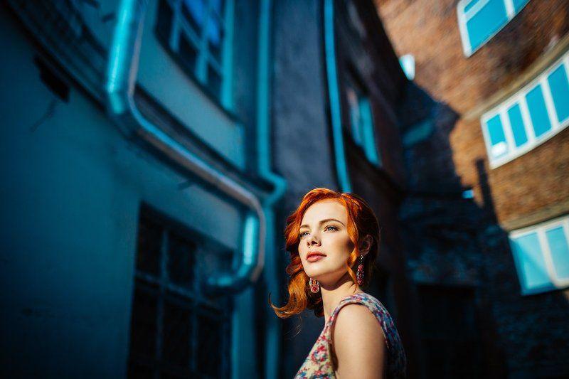 портрет, рыжая Женяphoto preview