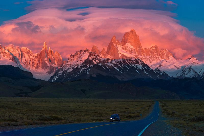 патагония, patagonia, argentina, fitzroy Рассвет над Андамиphoto preview