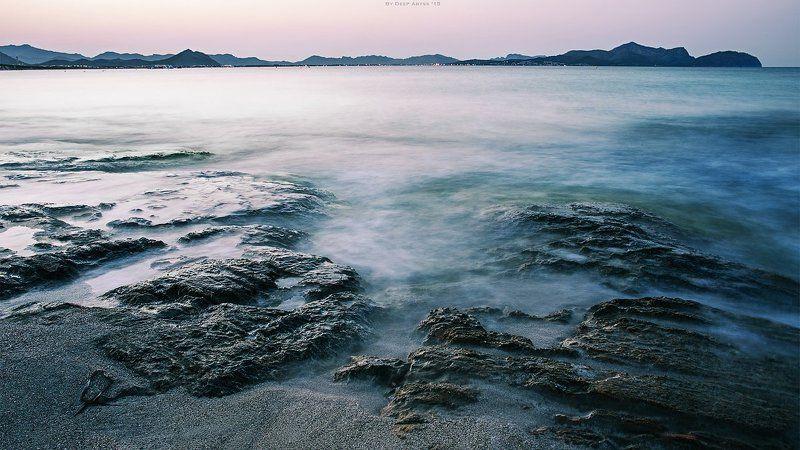 выдержка, длинная выдержка, море Шелестphoto preview
