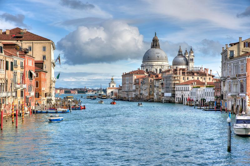 Santa Maria della Salute, Венеция, Италия, путешествия, вода, лодка, небо вид на Santa Maria della Salutephoto preview