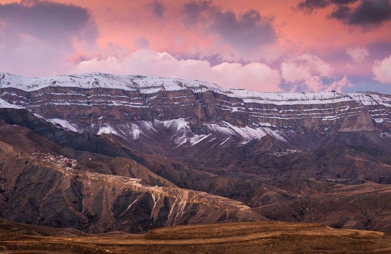 хребет закат краски пейзаж Краски заката  фото превью