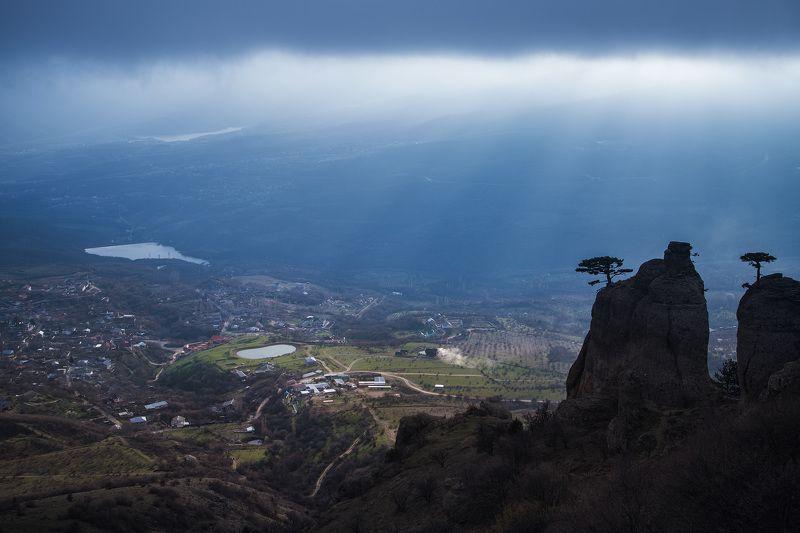 Крым, Лучистое, Март 2016, Весна Косые лучи заходящего солнцаphoto preview