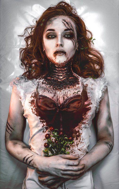 Dead, Girl, Portrait, Red, Redhead, Красный, Кровь За волчьими ягодамиphoto preview