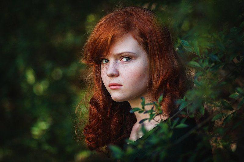 Веснушки рыжая, Портрет девушки ***photo preview