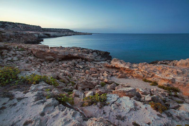 Кипр, КавоГреко, мыс, море, закат,  Кипрское спокойствиеphoto preview