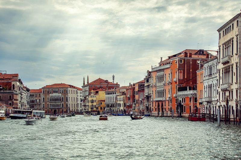 венеция, вода, гандола, город, городской пейзаж, гранд канал, дома, италия Движение-жизнь. Венецияphoto preview