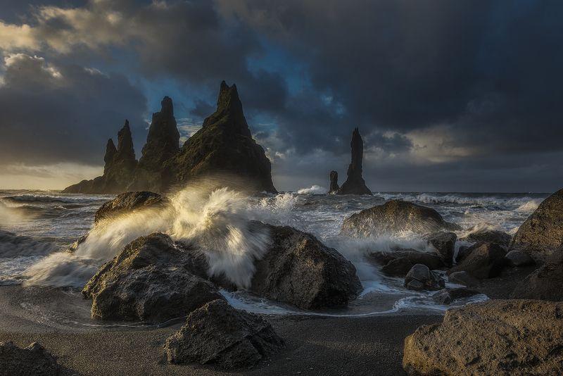 Iceland, Ocean, Reynisdrangar Reynisdrangarphoto preview