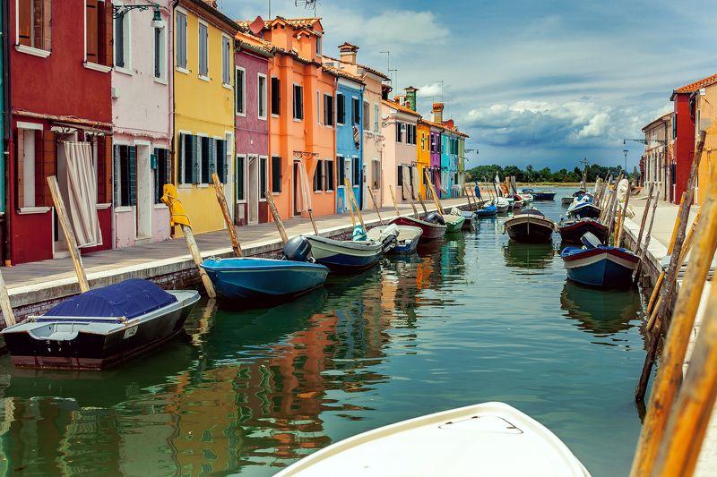 Бурано, Венеция, Дома, Италия, Парковка, Цвета Буйство красок. Бурано.photo preview