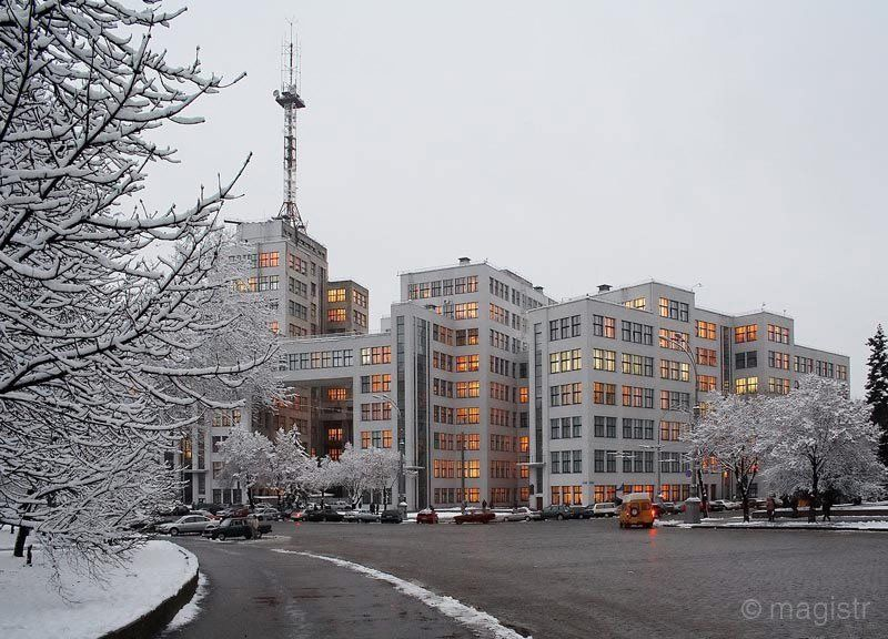 харьков, зима, снег, госпром (здание государственной промышленности) Зимний Госпромphoto preview