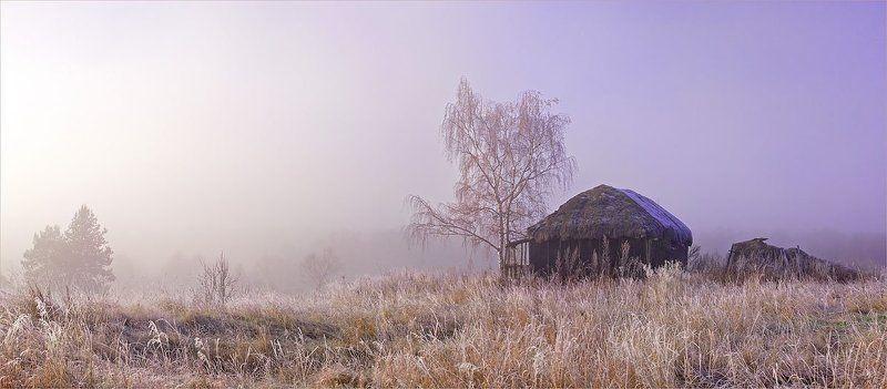 рассвет, туман, иней День и Ночьphoto preview