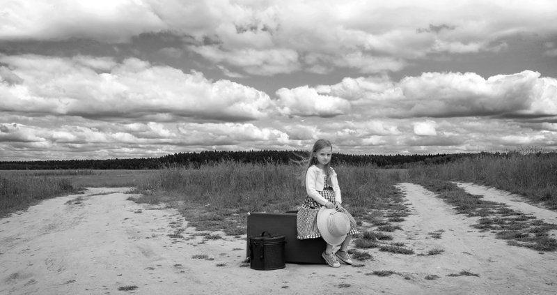 girl, child, traveller В путь-2photo preview