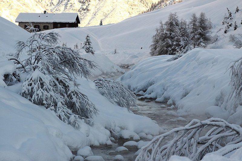 река, мороз, италия Морозное утроphoto preview