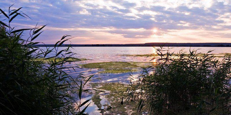 пейзаж,вечер,озеро,осень На озере...Осенний вечер.photo preview