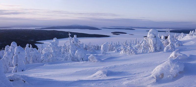 зима, гора, пейзаж, снег На севере диком...photo preview
