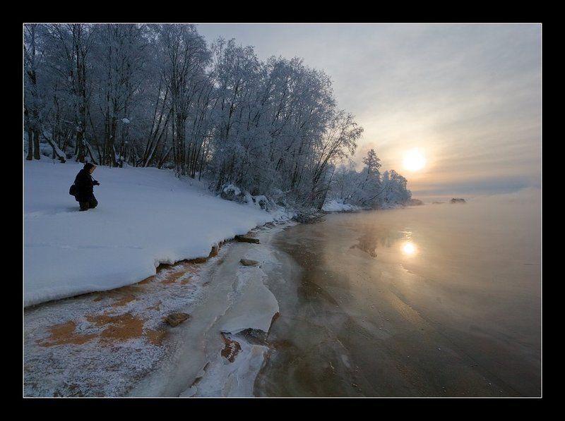 вуокса Морозное утро на речкеphoto preview