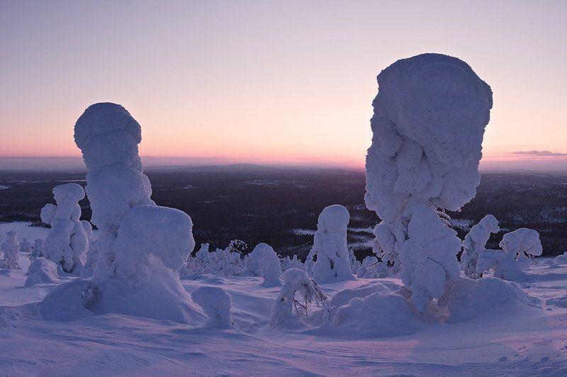 пейзаж,зима,вечер Днесь на Лысой 2photo preview