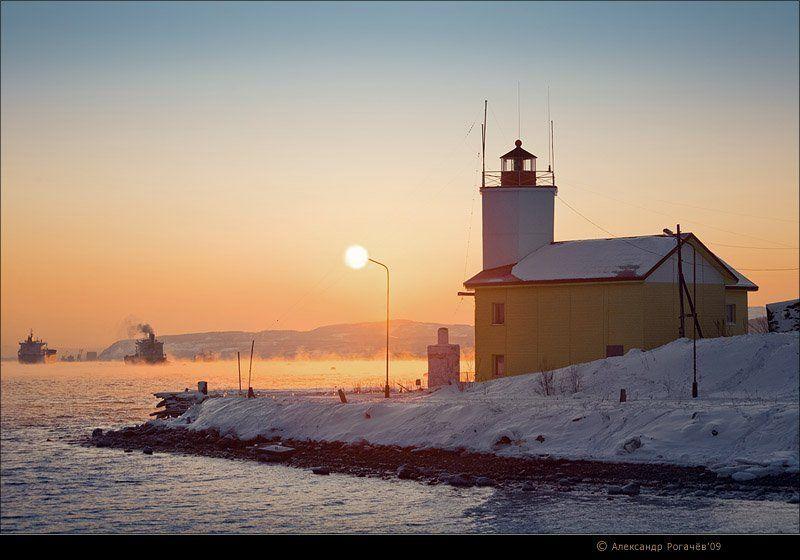 мурманск,январь,зима Солнце-фонарь.photo preview