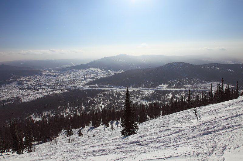 зима, горы, шерегеш горноеphoto preview