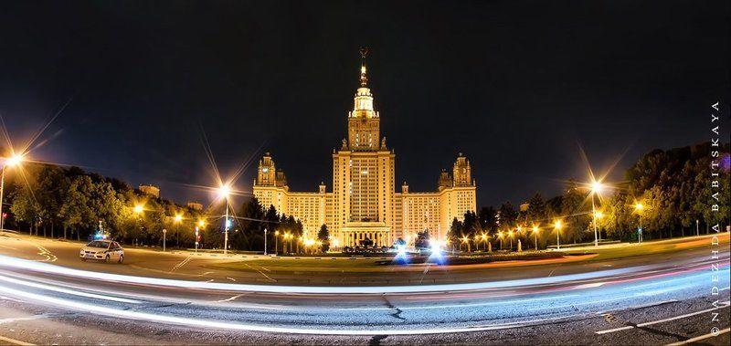 город, москва, мгу, ночной, город, city МГУphoto preview