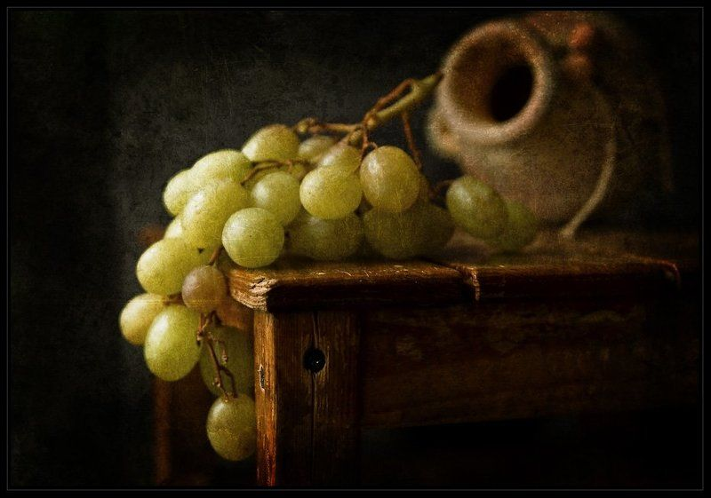 Jug and grapes...photo preview