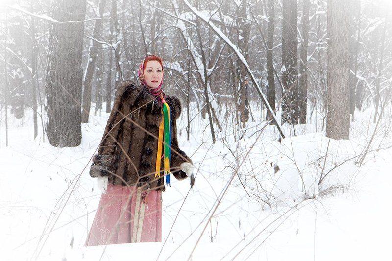 таня, русская, краса, мороз, зима, сугробы, снег Однажды в студёную зимнюю пору...photo preview
