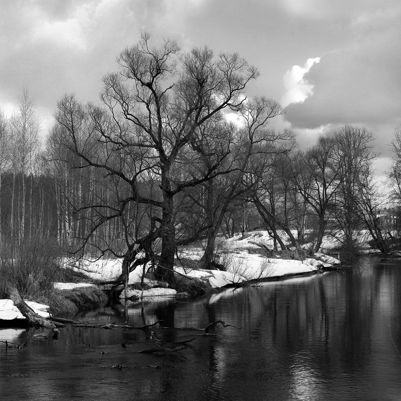 Весна., Пейзаж., Река. \