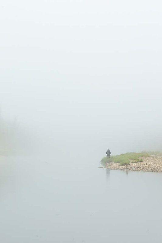 Дикая природа, Лето, Река Синяя, Туман, Утро, Фотографирует, Якутия В ожидании чудаphoto preview