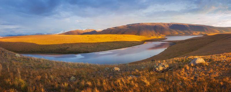 алтай, закат, лето, озеро, укок Приграничье с Китаем и Монголией, озеро Музды-Булак.photo preview