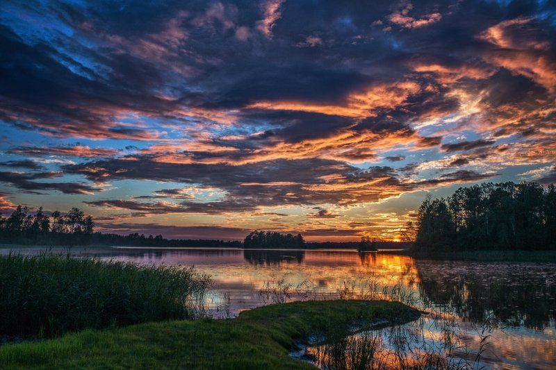 река, природа, закат, вуокса Вуокса photo preview