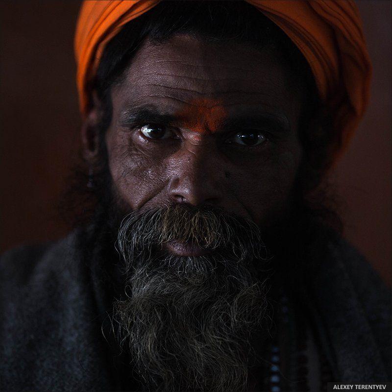 Садху, Индия, портрет, взгляд Индийский Садху...photo preview