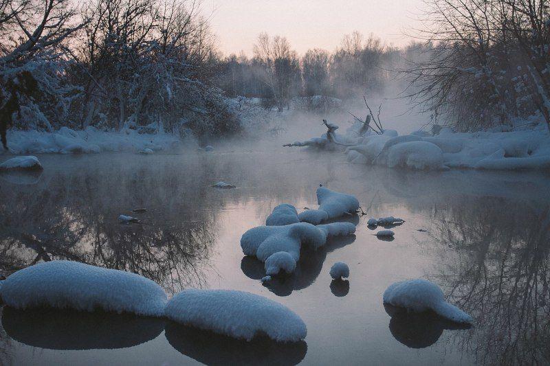 Зимняя запруда photo preview