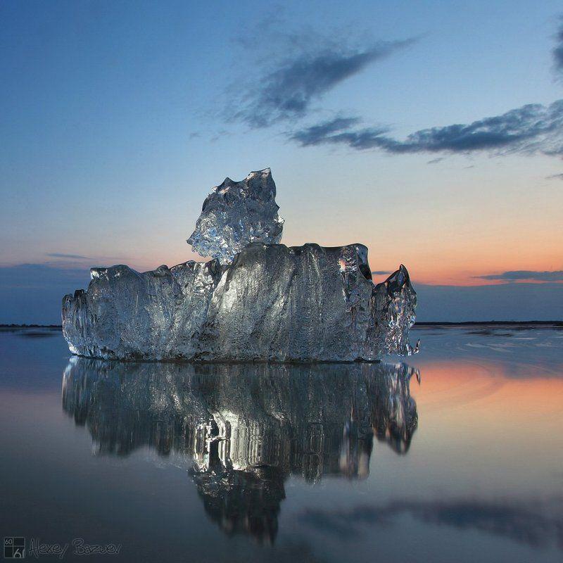 Амур, ледоход, лед, хрусталь, закат Хрустальная регатаphoto preview