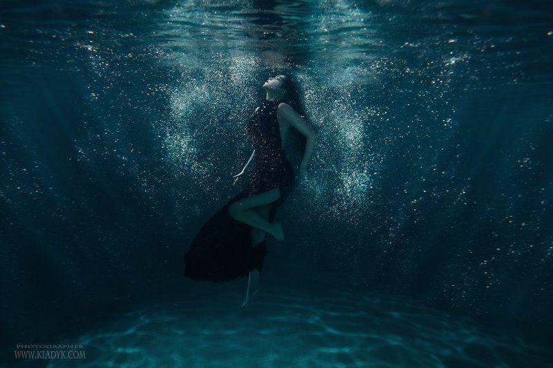под водой, девушка, вода, море, океан, ***photo preview
