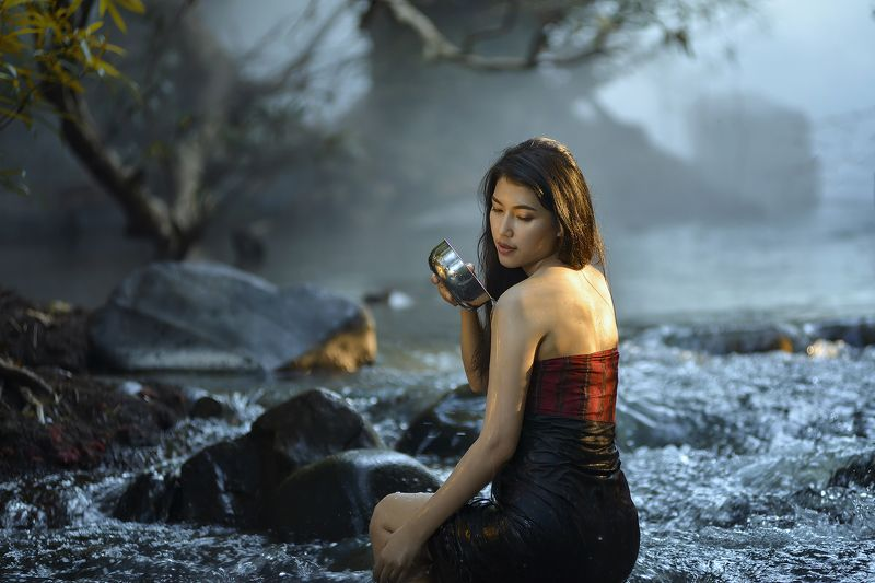 Asia, Asian, Beautiful, Culture, Fashion, Girl, River, Women Girl in lovephoto preview
