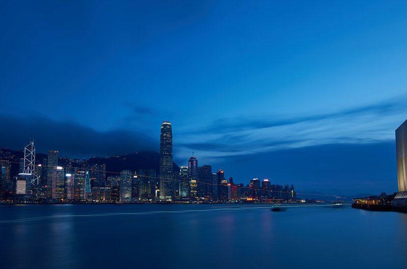 город, Гонконг, вода, закат, длинная выдержка HKphoto preview