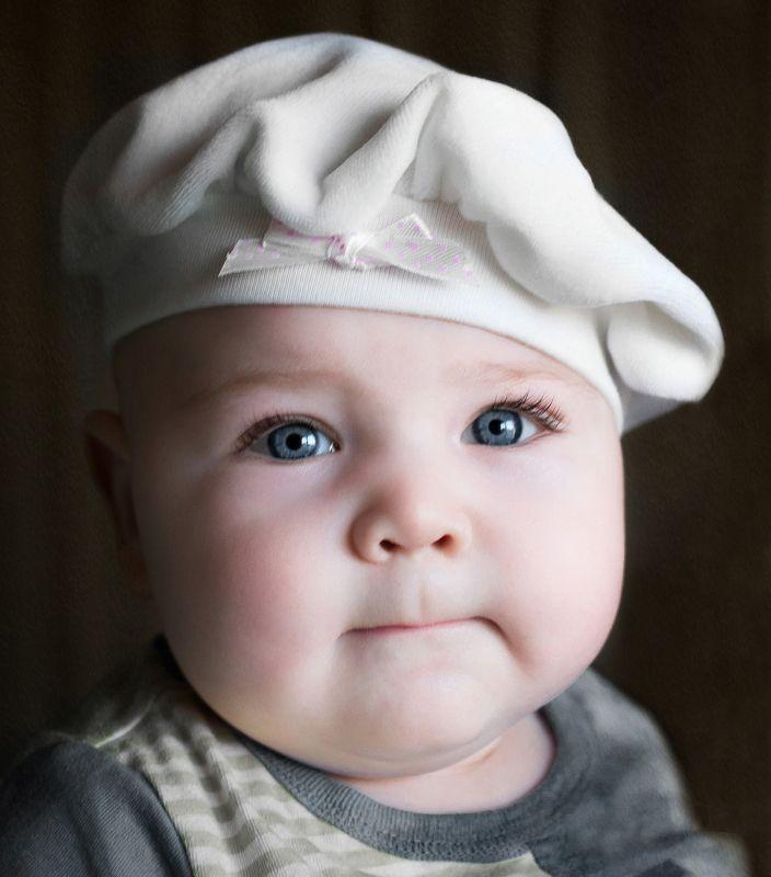 ребенок, малыш, детство, портрет, child, childhood, portrait В беретеphoto preview