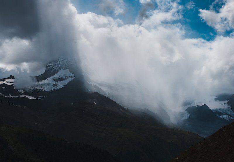 швейцария, церматт, маттерхорн, горы, альпы, ледник, лес, switzerland, zermatt, matterhorn, mountains, alps, glacier, forest photo preview