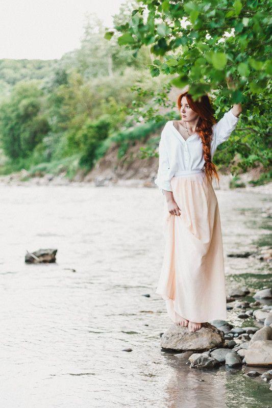 Девушка, Природа, Река, Рыжая Кристинаphoto preview