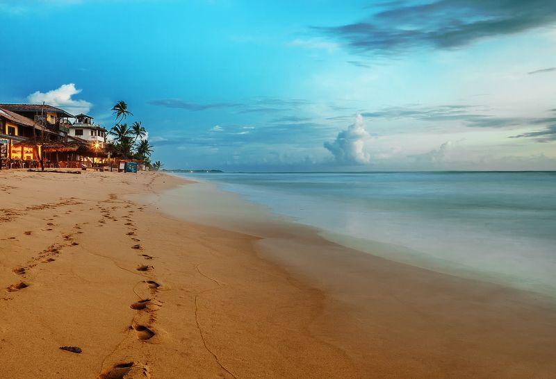 Шри-ланка, путешествие, пальмы, облака, океан Ночь на Шри-ланкеphoto preview