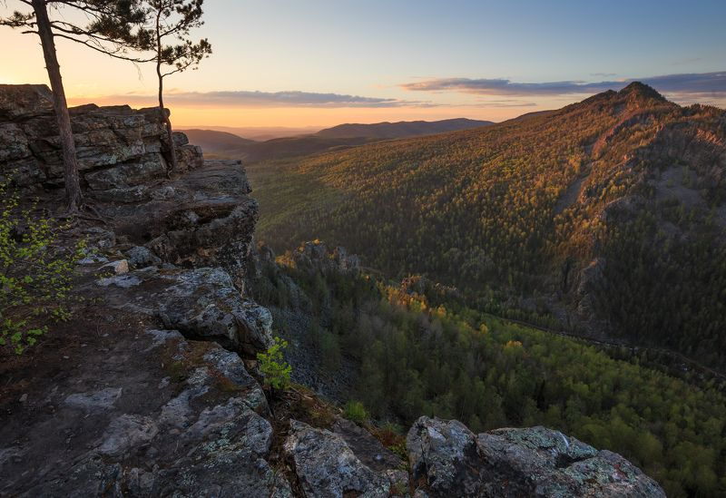 закат, горы, пейзаж, урал Золотой часphoto preview