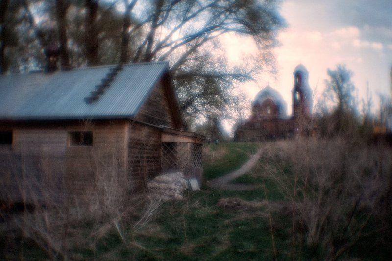 Храм, крестильня, монокль, вечер Крестильня...photo preview