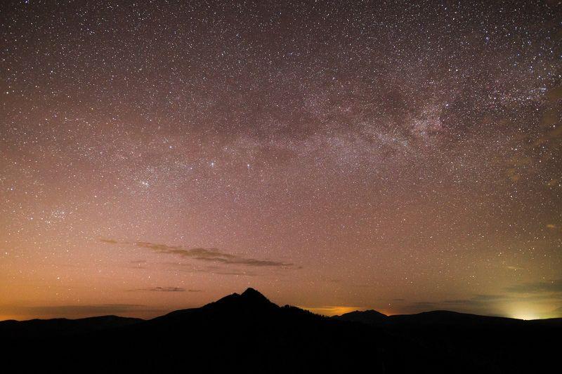 ночь, звезды, длинная выдержка, млечный путь, горы, урал Млечный Путь над г. Малый Ямантауphoto preview