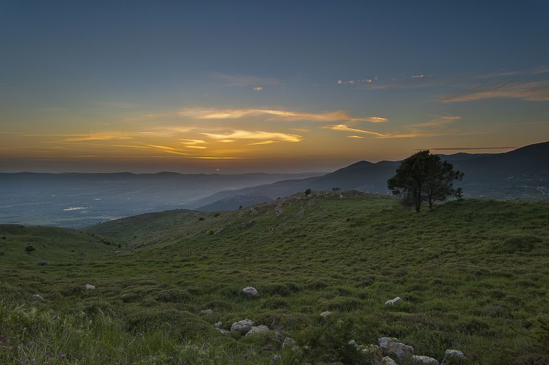 Закат Израиль Голанские высоты  закатphoto preview