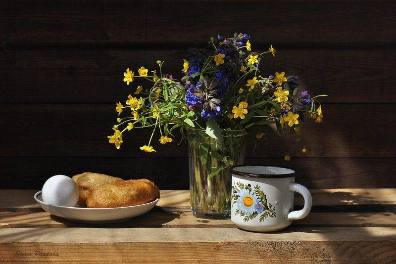 цветы, весна, лютик, медуница, дачный Простенькоphoto preview